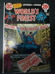 World's Finest Comics #218 (1973) 8.0 vf Key Issue see cover small rip magnified