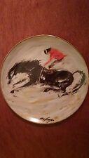 """""""Bronco"""", De Grazia Limited Edition collector plate, 1987"""