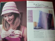 A Purse and Cushion Crochet patterns MAGAZINE Extract