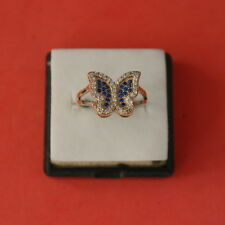 Superb 925 Silver Ring With TurkishSapphire And Topaz 2 Gr Size Q12 In Gift Box