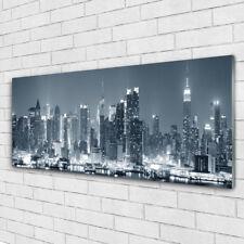 Acrylglasbilder Wandbilder Druck 125x50 Stadt Wasser Gebäude