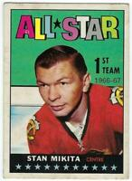 Stan Mikita Topps #126 1st All Star Chicago Black Hawks 1967-68