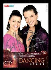 Eva Maria Marold und Thomas Kraml Autogrammkarte Original Signiert ## BC 95824