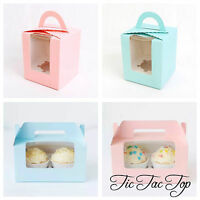 6 x Single or Double Cupcake Box with insert. Party Supplies Cake Muffin Boxes