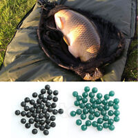 50pcs 6mm Carp Fishing Soft Rubber Beads Tackle Accessories Brown Black Green