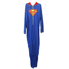 MENS Superman All in One jumpsuit Red Hoodie Blue SIZE XXL X-Store