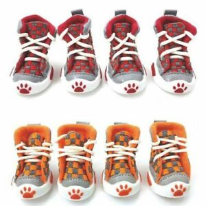 Pet Puppy Shoes Winter Warm Boots For Dogs Cat Outdoor Footwear Fashion 4pcs/set