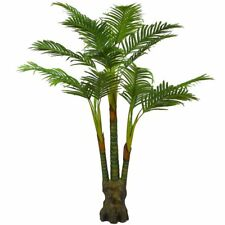 Artificial Plants Palm Tree, Large Silk Green Leaves Palm Tree, 160cm Tall, With