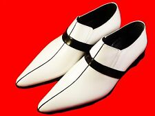 ORIGINAL CHELSY - Italien Party, loisir Designer mocassins blanc noir 41