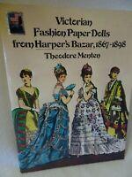 Uncut MENTEN Victorian Fashion PAPER DOLLS-1867/1898-Harper's Bazar-Dover Publ.