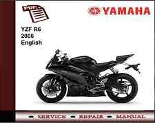 Yamaha YZF R6 YZFR6 2006 Workshop Service Repair Manual