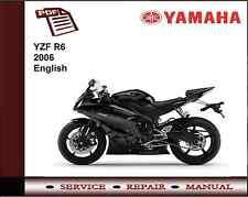 Yamaha YZF R6 YZFR6 2006 Workshop Service Repair Manual