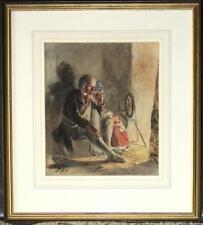 Original Watercolor by Royal Academician Paul Falconer Poole RA RI - Reverie