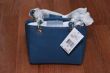 NWT Michael Kors $268 Cynthia Mini XS Extra Small North South Satchel Steel Blue