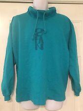 Vintage Ocean Pacific OP High Collar Sweatshirt Long Sleeve Aqua Size Lg Rare