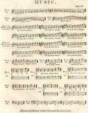 Musique: Major Minor mode Sharps Flats Triades. (Oxford Encyclopédie); 1830