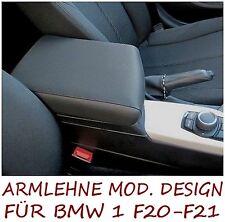 Mittelarmlehne DESIGN für BMW 1 F20 - F21 - schwarzem Kunstleder - Made in Italy