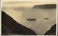 Hornviken Norwegen Norge Finnmark AK ~1930 Nordkap Fjord Schiffe Fartyg Dampfer