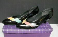 Socialites Black Leather Women's Leather Shoes Size 9.5