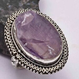 Amethyst Ethnic Handmade Ring Jewelry US Size-7.25 AR 29073