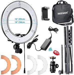 Anillo de Luz 36W 5500K con Soporte de Luz Kit Receptor Bluetooth youtube Neewer