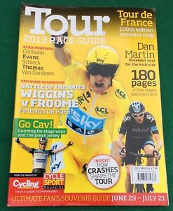 Tour De France 100th Edition Souvenir Race Guide 2013. Magazine.