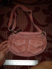 FOSSIL  AUTHENTIC STYLE CANVAS Mauve Pink BRASS CUTE Crossbody
