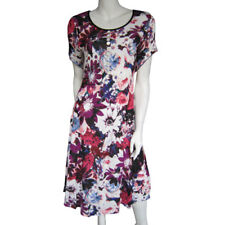 Ladies size 12  Long summer  DRESS  short sleeve EVERSUN coloured flowers  New