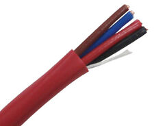 18/4C Unshielded FPLP Fire Alarm Cable. 1000' Reel Red. FREE SHIPPING!!