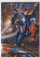 2018 Marvel Masterpieces Captain America Gold Foil Signature Series #88
