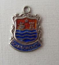 Vintage Sterling Silver Scarborough England Travel Shield Charm