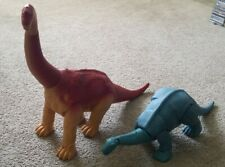 "Vintage 1987 Playskool DEFINITELY DINOSAURS 32"" ULTRASAURUS and BRONTOSAURUS"