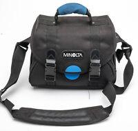 Minolta Kameratasche Fototasche Schultertasche camera bag in Schwarz universal