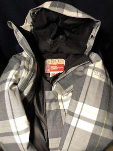 Bonfire Merchant 20th Anniv.Limtied Edition Women WinterCoat Gray& White W/Hood