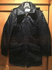 Vintage Golden Fleece Police Nylon Winter Coat Jacket Parka Mens 38 Navy Blue