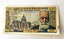 Billet 500 Francs Victor Hugo 1958