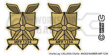 New! Mad Max MFP MAIN FORCE DECAL STICKER - TWIN SET - MFP 1234