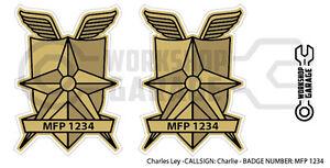 New! Mad Max MFP MAIN FORCE STICKA - TWIN SET - MFP 1234