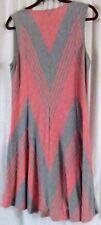 Max Edition Dress XL Stripes V Neck Sleeveless Multi Color Knee Length