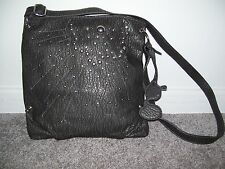 Kensie Girl Gray Studded Cross Body Bag Handbag
