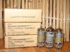 3 Vintage Unused 5749 6BA6 W Sylvania 1956 Radio Tubes