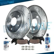 COMPLETE KIT eLine Cross-Drilled Brake Rotors /& Ceramic Brake Pads CEX.4417602