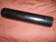 "30 Gauge Reeves Snapiok Section Black Metal Stove Pipe 24 inch Tall 4"" Diameter"