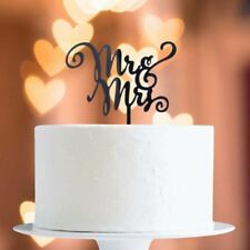 Black Mr & Mrs Cake Topper x1 Baking Pick Decoration Wedding