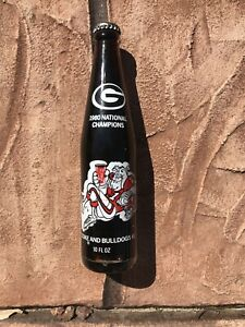 1980 UGA GEORGIA BULLDOGS NATIONAL CHAMPIONS COKE BOTTLE UNOPENED