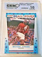 1989-90 Fleer Sticker Michael Jordan #3 All-Star GEM MINT10 Beckett/BCCG Hot One