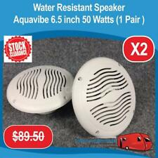 "Caravan Camper Boat Water Resistant Speakers Aquavibe 6.5"" 50 Watts(1 Pair) AC01"
