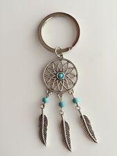 Lady Girl Women Dream Catcher Leaf Key chain Ring Keyrings Holder Gift her