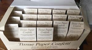 Neviti Tissue Paper Confetti.Ivory And Gold.17 Packs