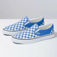 NEW Vans Slip On Checkerboarding Unisex Size Shoes Blue/White VN0A4BV31GB